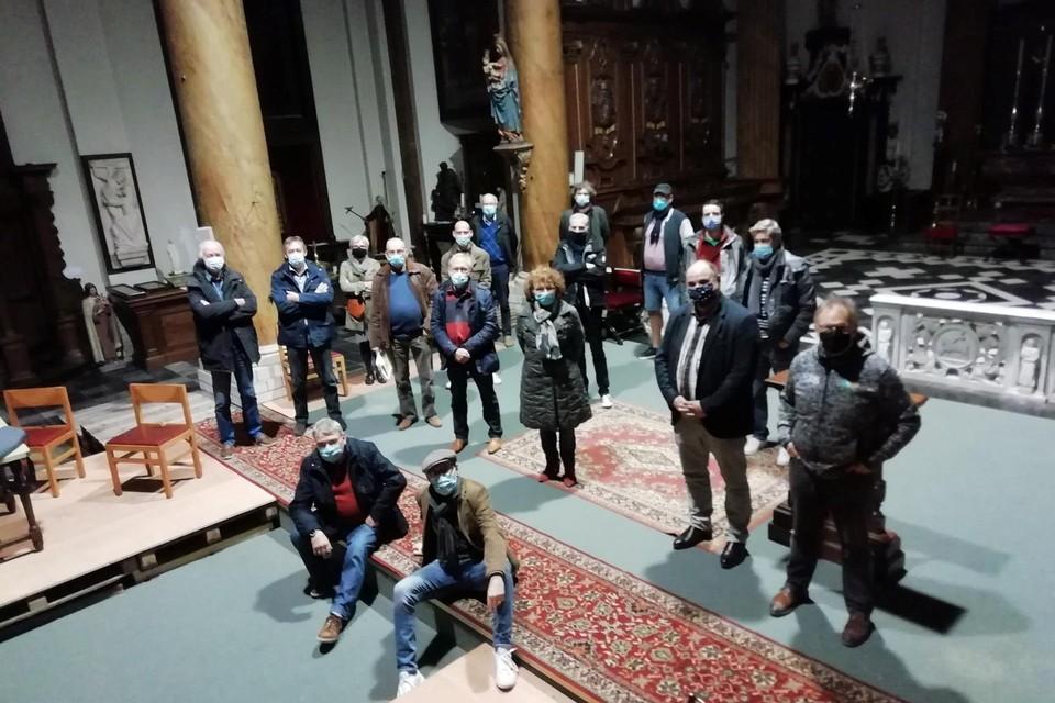 De acteursploeg kwam een laatste keer naar de museumkerk.