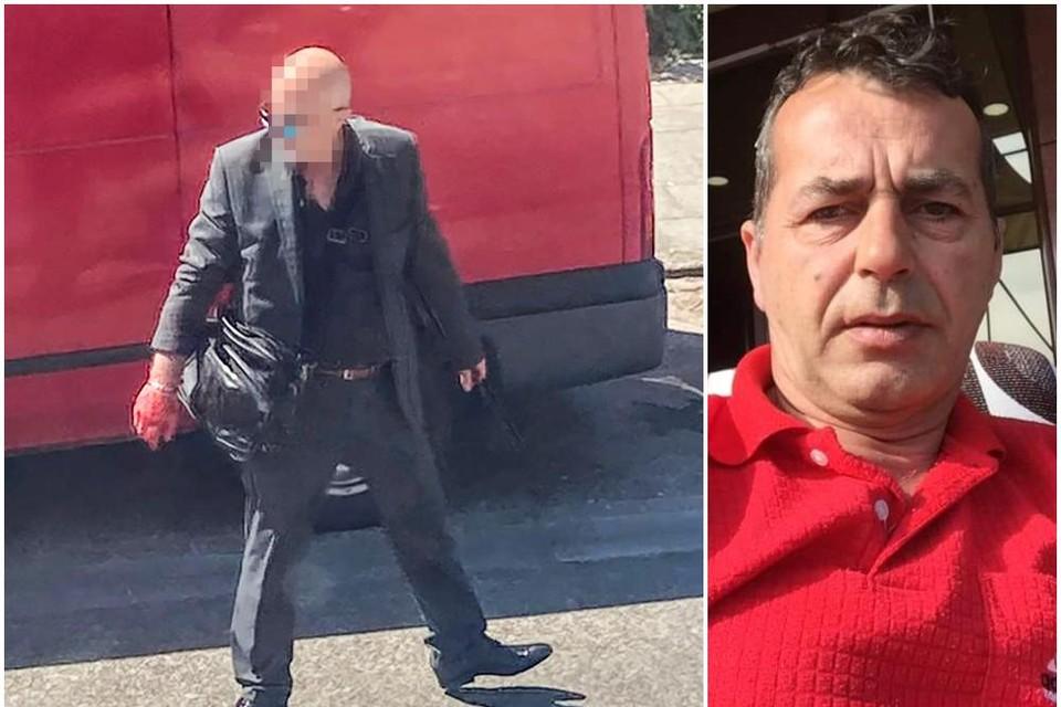 Links Betin A. na de feiten, rechts slachtoffer Ismet Osmanaj.