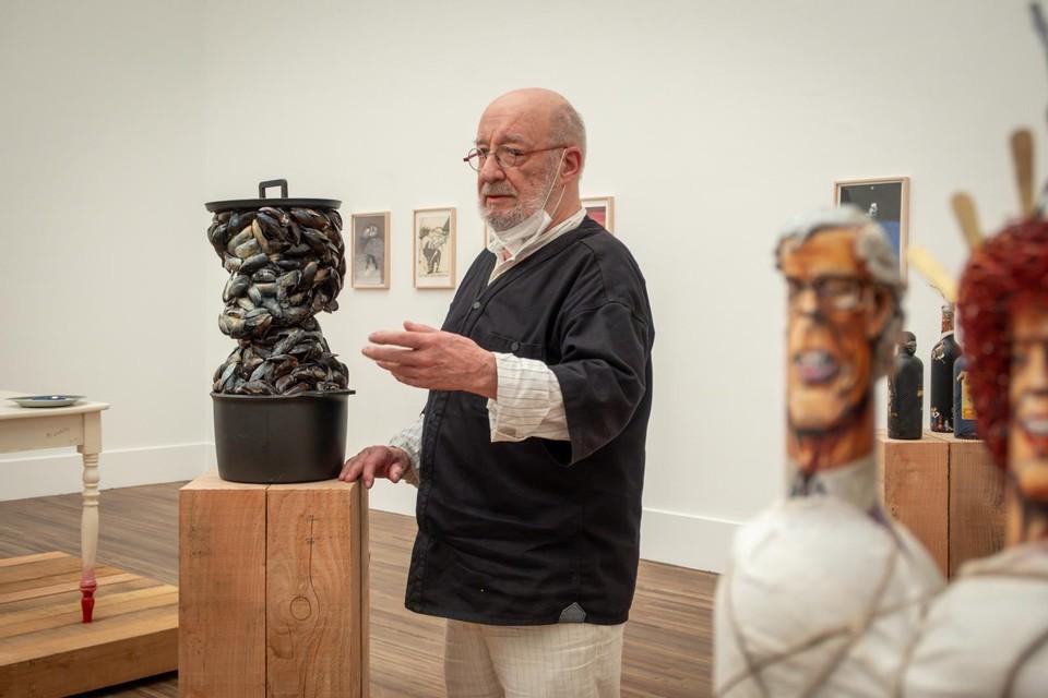 De tentoonstelling verrast met verschillende vrije creaties van GAL.