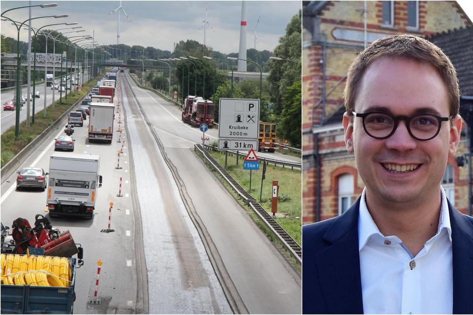 Vlaams Volksvertegenwoordiger Stijn De Roo volgt het dossier van de E17 op in het Parlement.