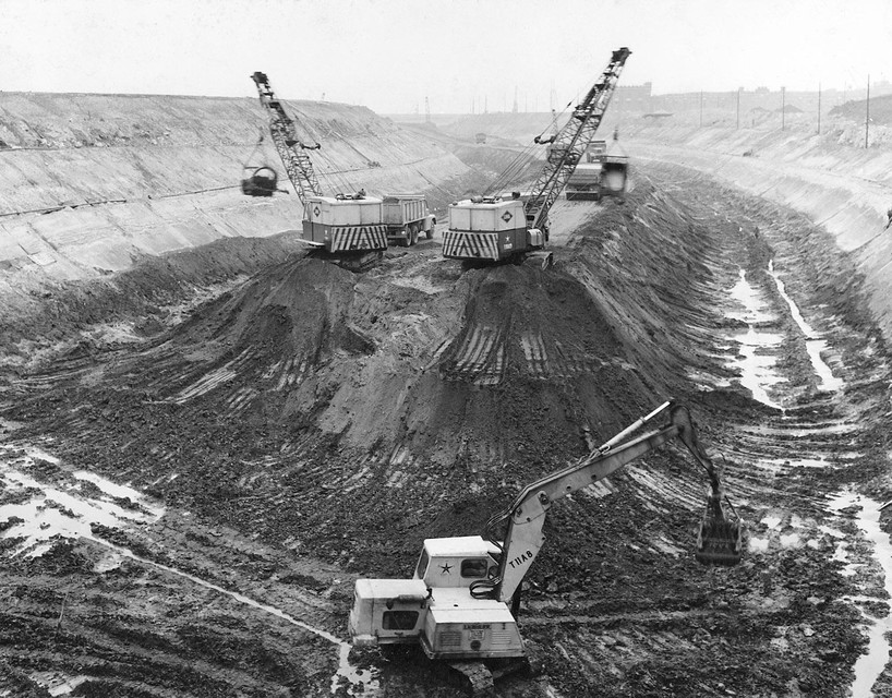 De aanleg van de Ring in 1964.