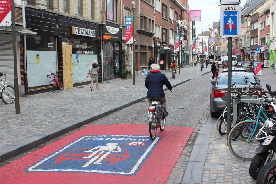 Fietszone Mechelen.