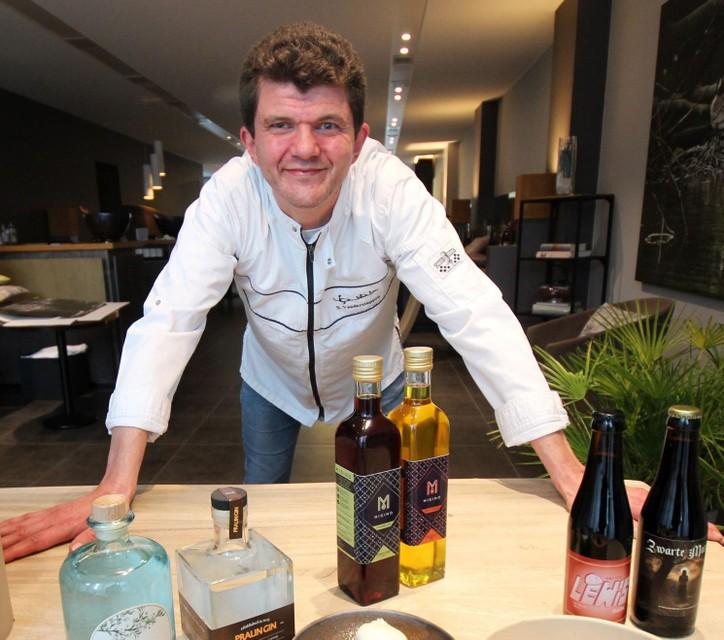 Steven Vanderstappen gaat aan de slag met lokale producten.