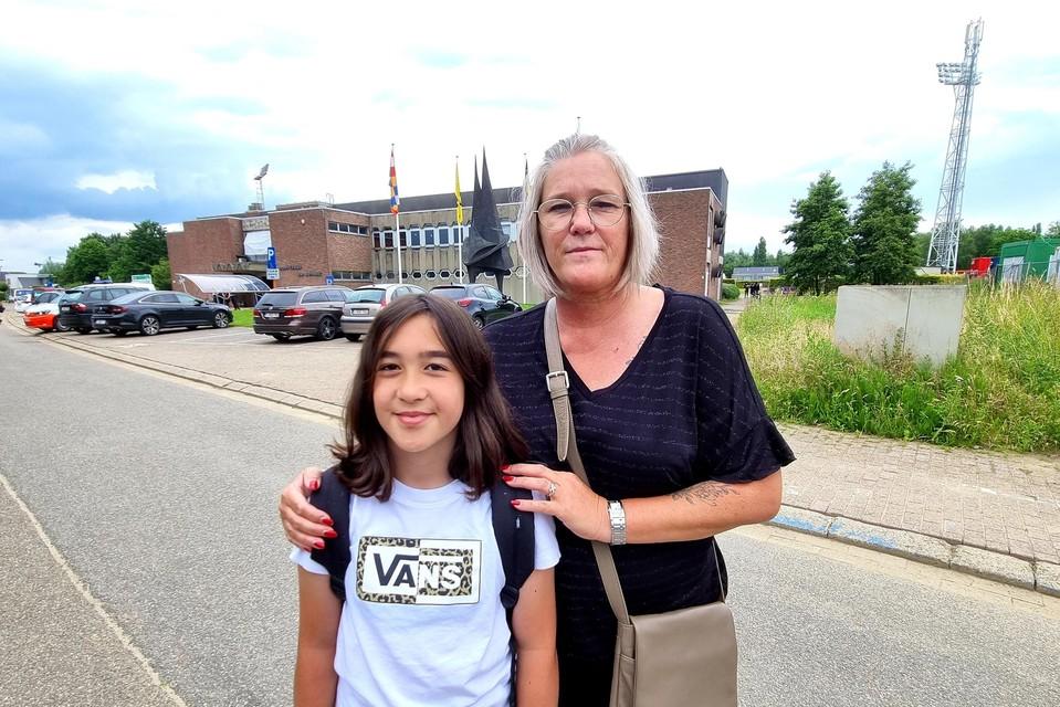 Katja met dochter Luna, net na haar aankomst in Willebroek