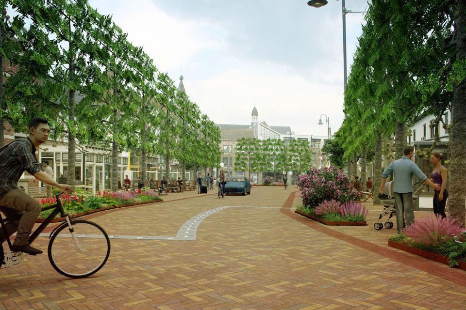 Zo zou het centrum van Baarle er over enkele jaren kunnen uitzien.