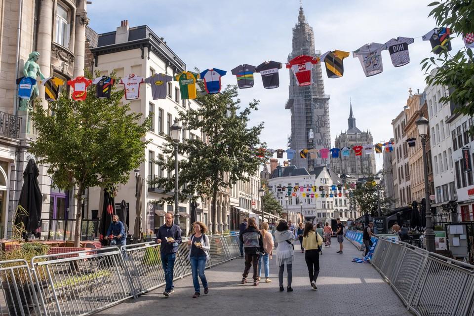 Antwerpen is al helemaal in de ban van het WK.
