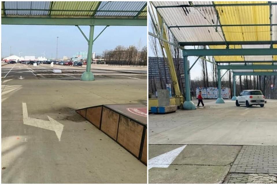 Wagens werden tot maandag verkeerd afgeleid via het skatepark. De stad heeft nu hekken geplaatst en verwijdert de pijlen.