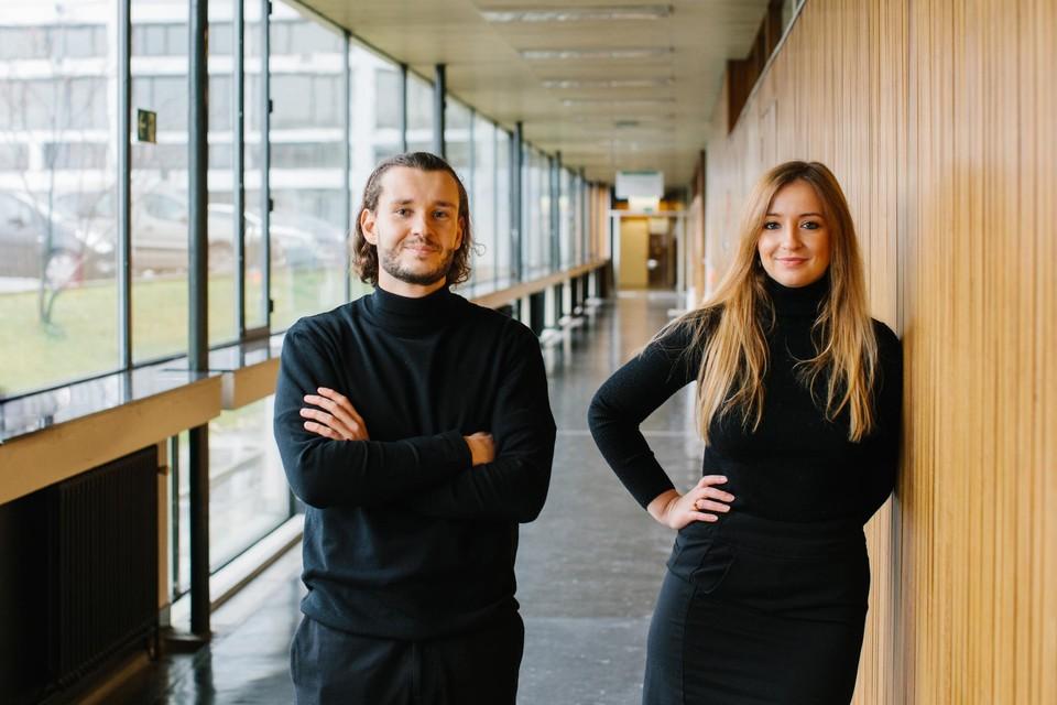 Davy Didden en Nadia Wiesé kregen een Agoriaprijs voor hun gezamenlijke masterproef.