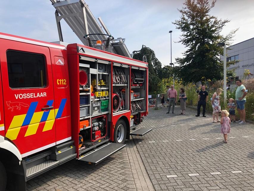 Een brandweerwagen van de brandweer in Vosselaar staat in de kijker.