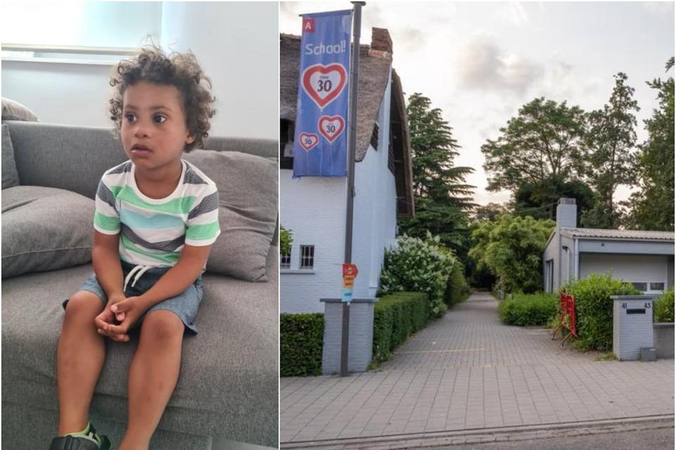 Aiden liep weg via dit pad in de Kerkelei in Wilrijk.