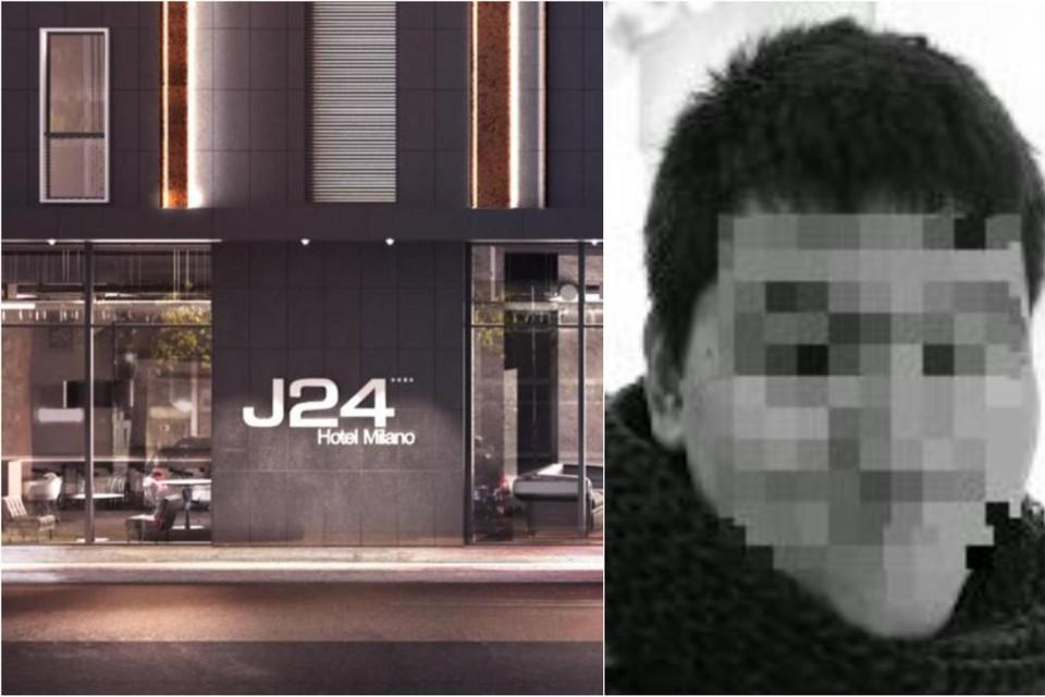 Kevin D. (rechts) werd opgepakt in hotel J24 in Milaan.