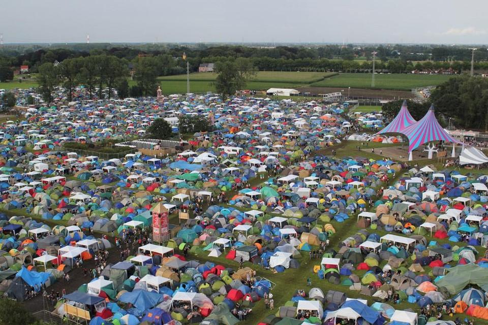 Het Dreamville-kampeerterrein.