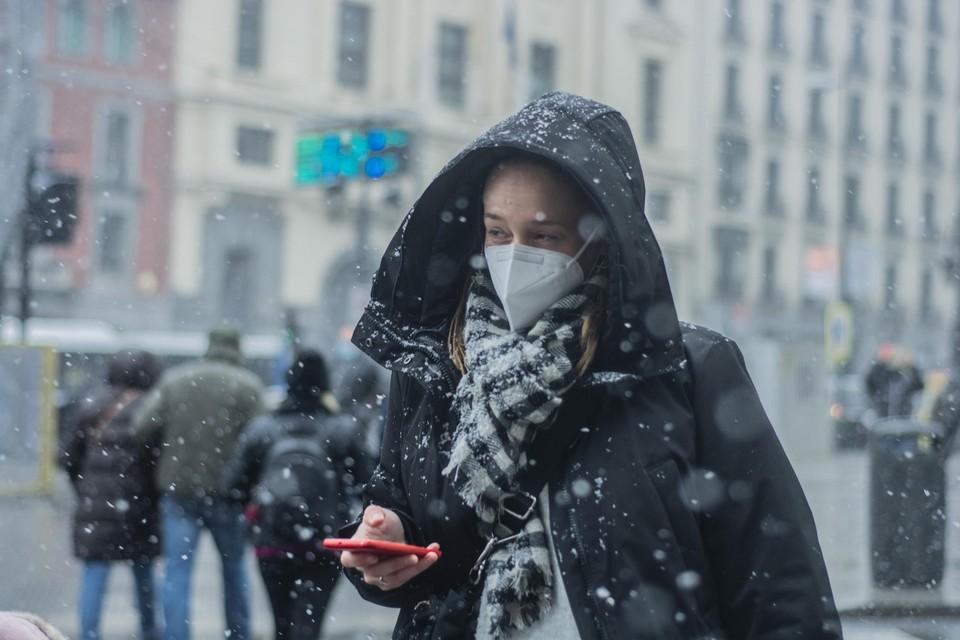 Sneeuw in Madrid.