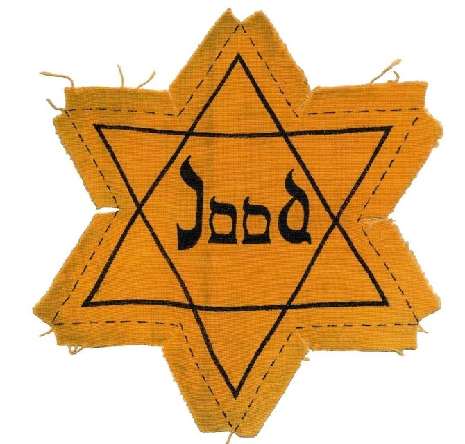 The Star of David was displayed in 1942 and had to be worn visibly.  This is a copy from the Netherlands.