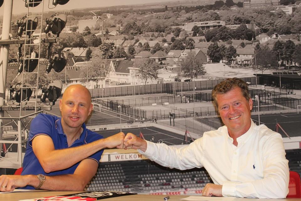 Bob Peeters met Peter Bijvelds, directeur van Top Oss.
