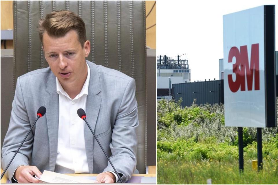 Hannes Anaf, voorzitter van de parlementaire onderzoekscommissie naar de chemische stoffen PFOS en PFAS.
