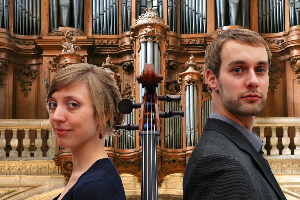 Ellen Van den Brandde en Eert Amerlinck spelen in de kerk van Bornem.