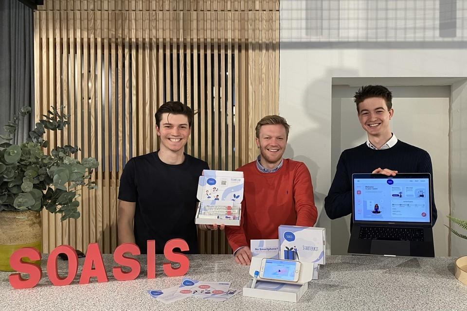 Thomas Cools, Maxime Crevits en Guillaume De Jonghe ontwikkelden Soasis om seksueel overdraagbare ziekten op te sporen.