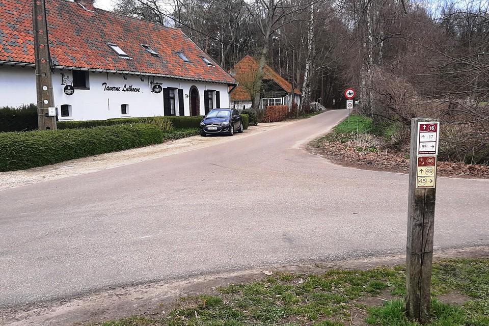 In het gebied Keyfheide nabij Taverne Luihoeve in Meerhout