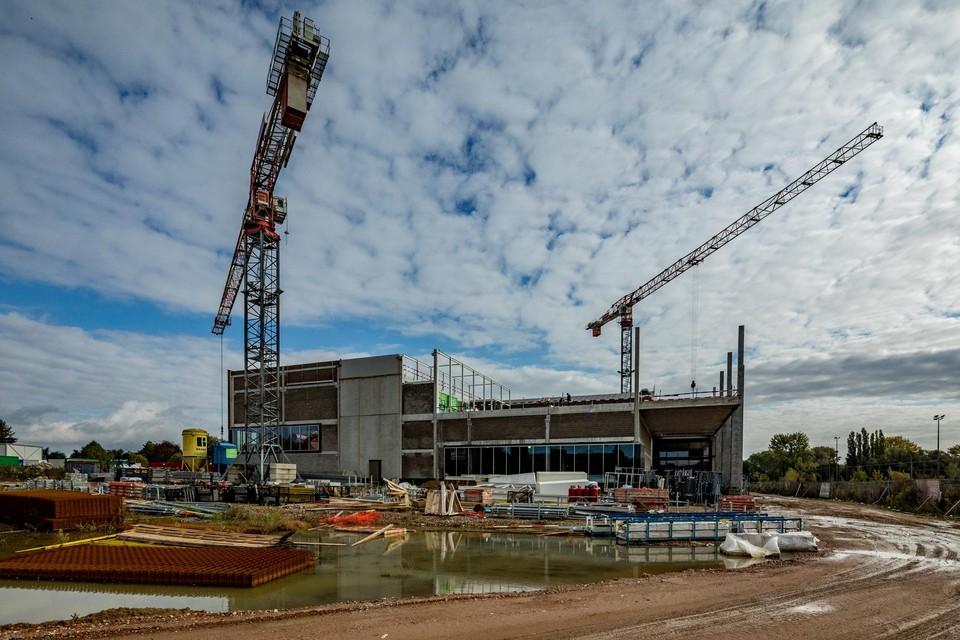 Sportoase is volop aan het bouwen.