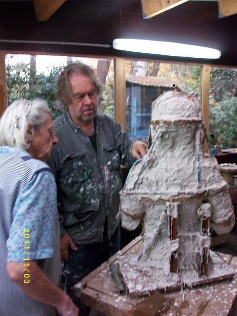 Mariëtte Coppens in 2011 in haar atelier.