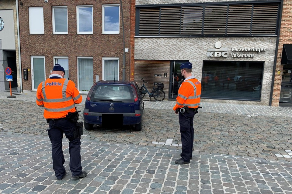 Onder meer op het Kardinaal Cardijnplein in Berlaar-Heikant was er een verkeerscontrole.