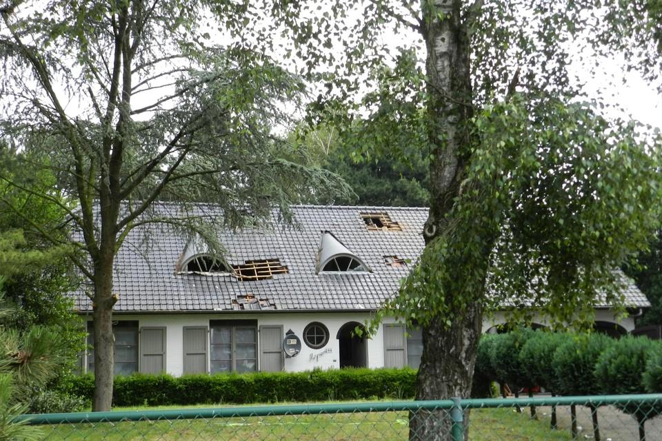 De plantage met 544 cannabisplanten kwam in juni 2019 aan het licht na een brand in deze woning in Vlimmeren.