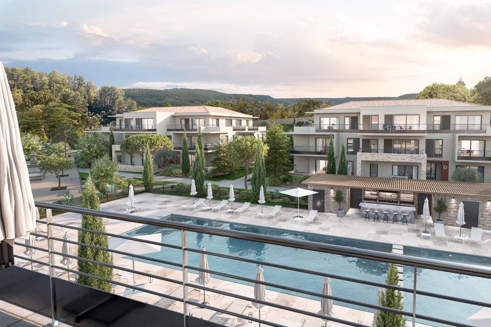 Het complex in de Zuid-Franse stad Vence waar de dokters een appartement zouden kopen. De appartementen bleken veel kleiner dan beloofd.