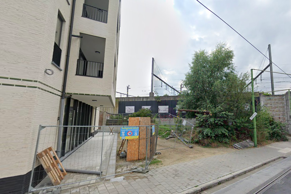 Het braakliggende stukje Guldenvliesstraat.