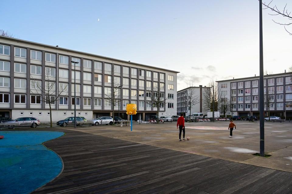 Het Nederlandse Camelot verhuurde voor Woonhaven 120 flats, onder meer op het Majoor Maelfaitplein in Hoboken.