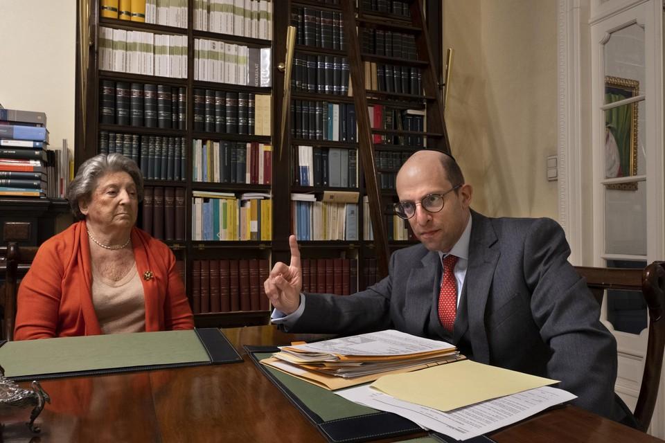 Philippe Scharf (rechts) en Regina Sluszny, voorzitters van het Forum der Joodse Organisaties