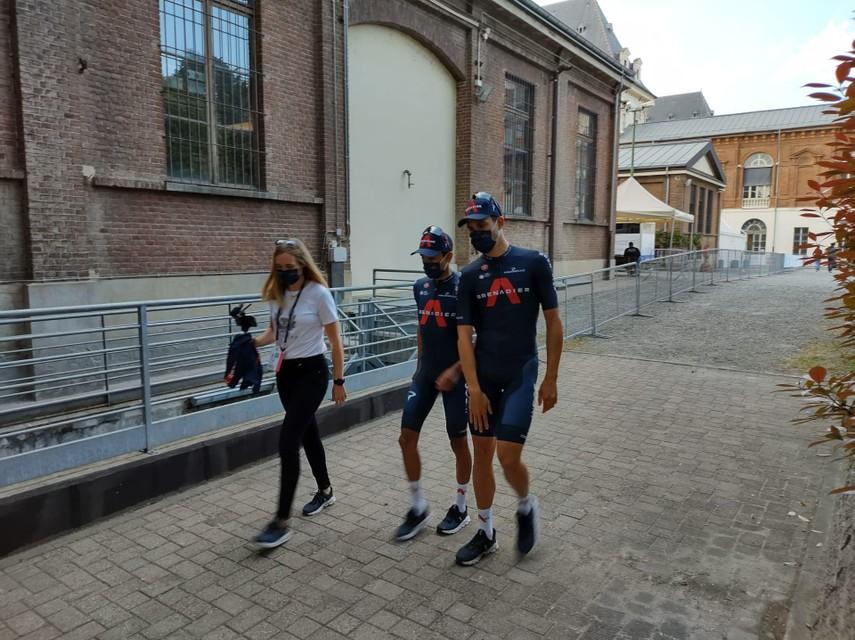Egan Bernal en wereldkampioen tijdrijden Filippo Ganna.