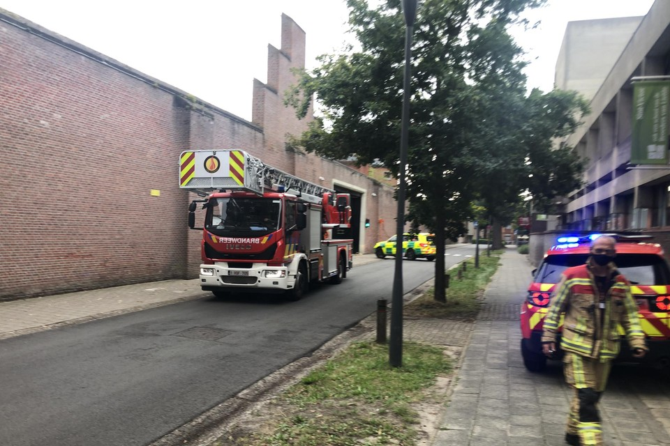 De brandweer rukte eind augustus 2020 uit naar de gevangenis in Turnhout. Een gedetineerde had daar zijn cel in brand gestoken.