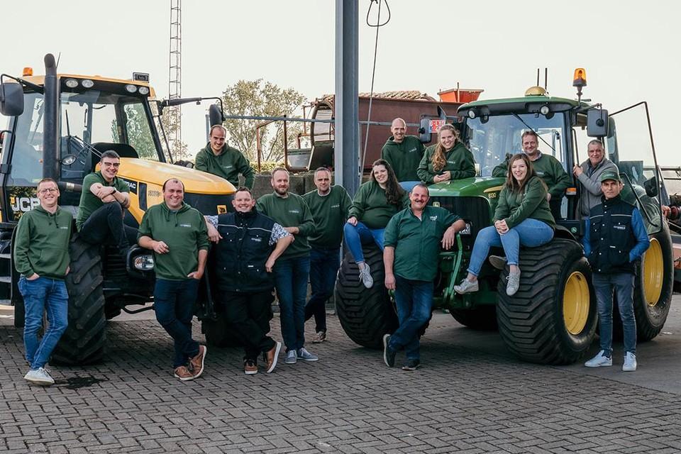 Het team van tuinbouwbedrijf Dirk Maris.