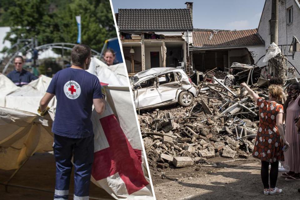 De Waalse tak van het Rode Kruis investeerde al 700.000 euro in tenten, bedden, matrassen, dekens,... voor de noodopvang of eerste hulp