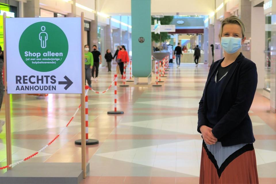 General manager Katrien Geysen in Wijnegem Shopping Center.