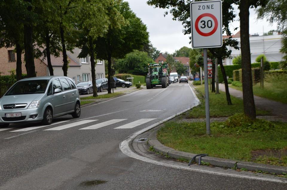 Het begin van de zone 30 komende vanuit Zandhoven.