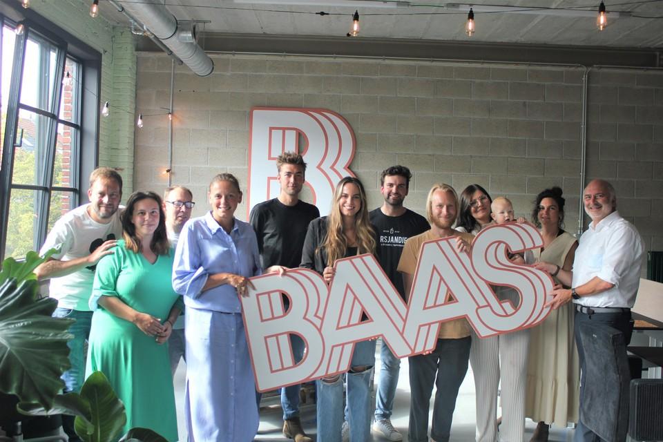 Mensen achter het project BAAS en enkele ondernemers in het kersverse Baas-Buro.