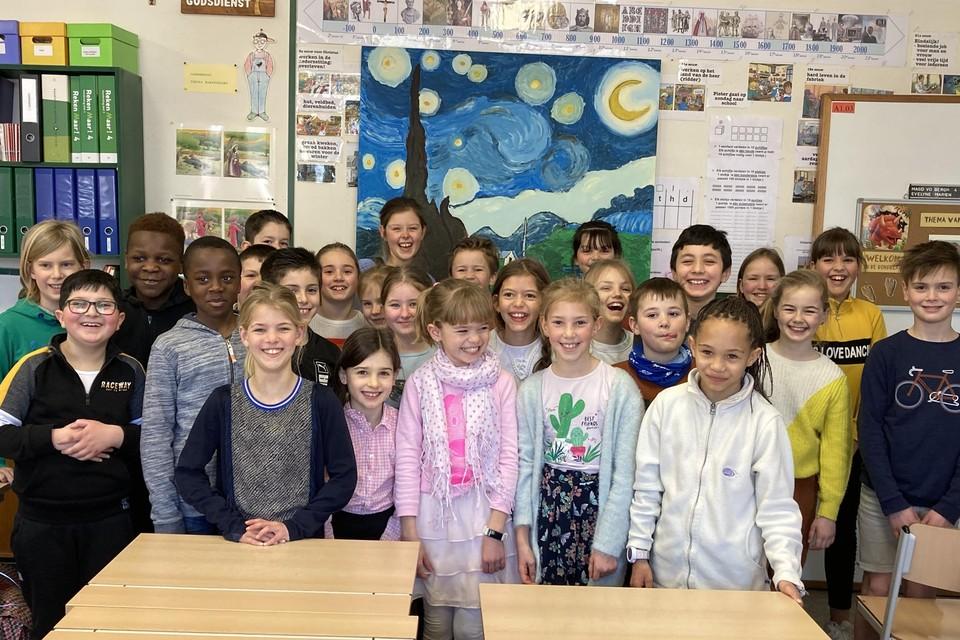 De leerlingen van het vierde leerjaar van vrije basisschool Triangel in Wuustwezel schilderden  van Vincent Van Gogh, een streekgenoot.