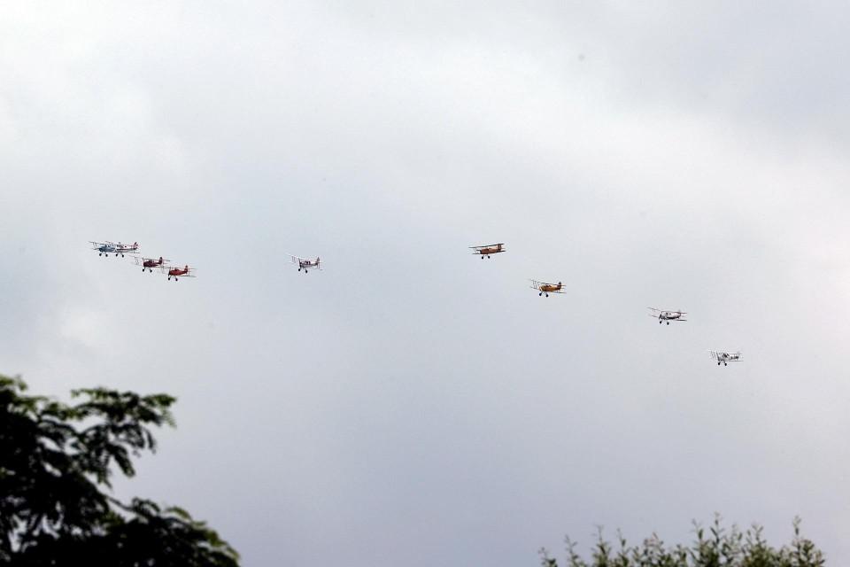 Het vliegtuigje maakte in juli nog deel uit van een herdenkingsvlucht.