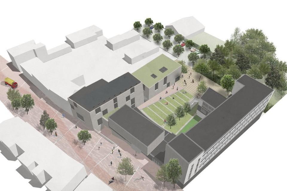 De nieuwe Heistse academie wordt momenteel afgewerkt.