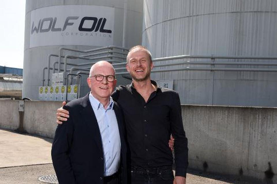 Philippe Verellen van WOlf Oil met zijn zoon Nicolas.