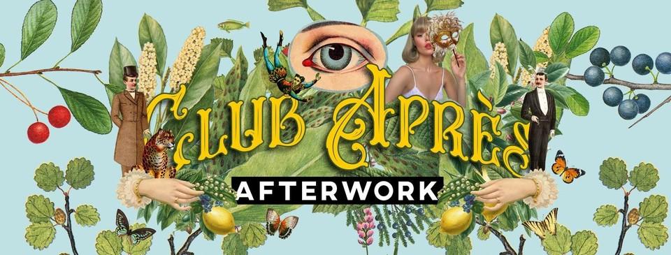 De huisstijl van Club Après, het nieuwe afterwork evenement in Turnhout.
