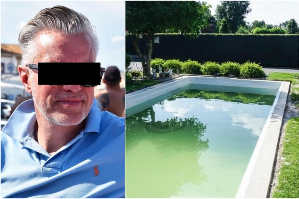 Links: Petrus of Pedro Leistra, of Peter Leis. Rechts: een onbruikbaar zwembad.