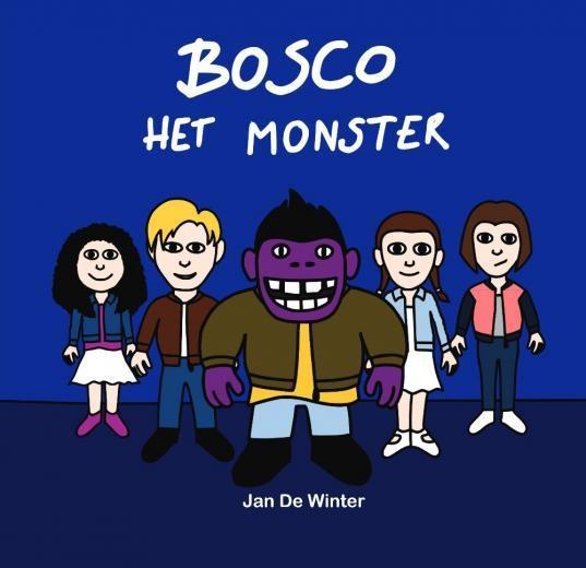 De cover van Bosco het monster, die geïnspireerd is op King Kong.