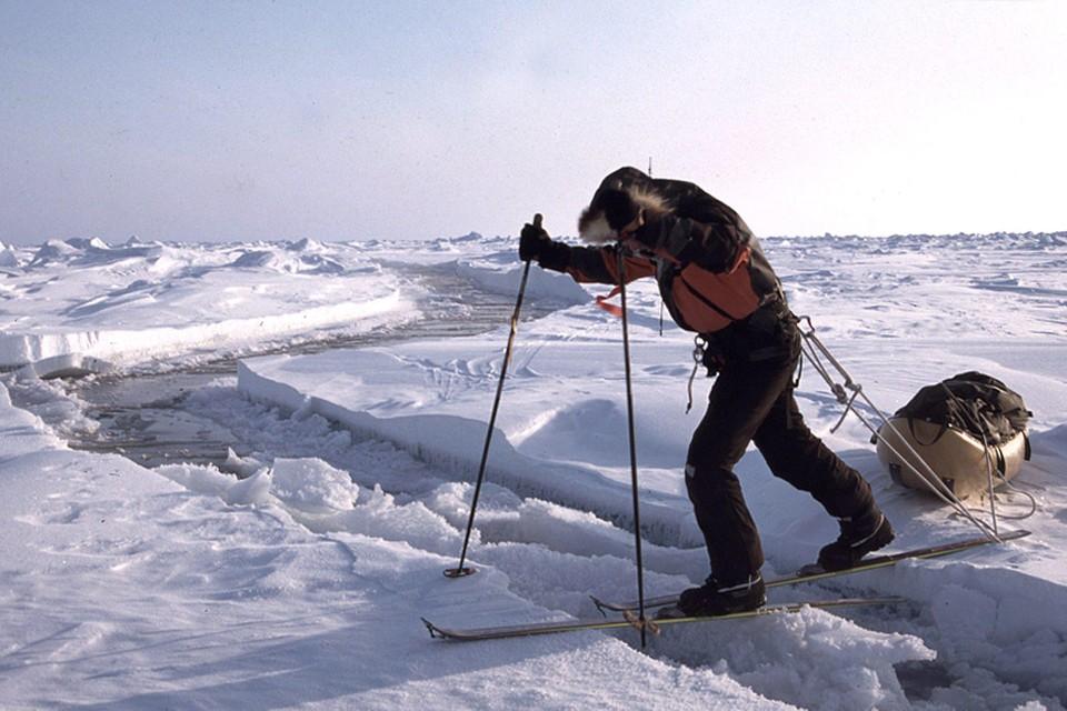Dixie Dansercoer tijdens een expeditie in 2002.
