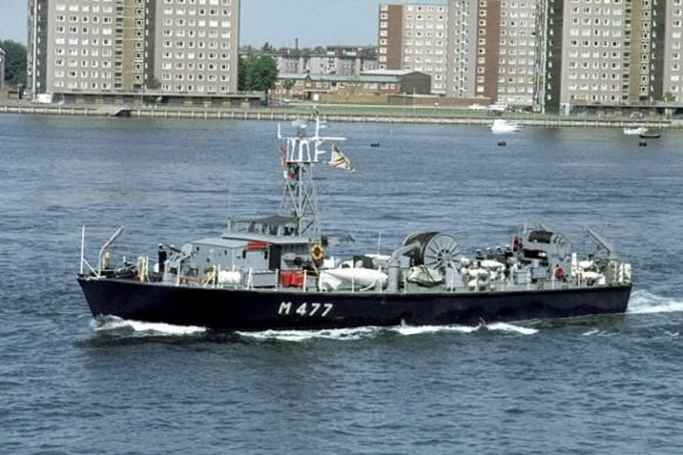 De Oudenaarde M477 is de laatste van 16 Belgische ondiepwatermijnenvegers, in dienst van 1959 tot 1998.