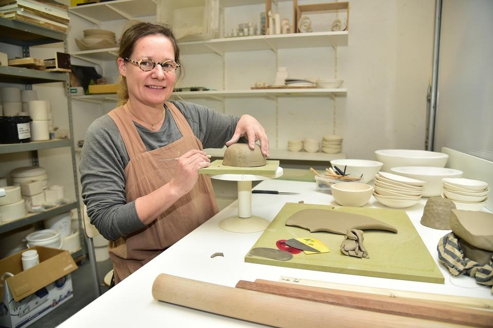 Katja Van Breedam runt Atelier-K! in Merksem.