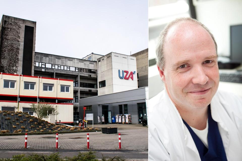 Rechts: medisch directeur Guy Hans van het UZA.