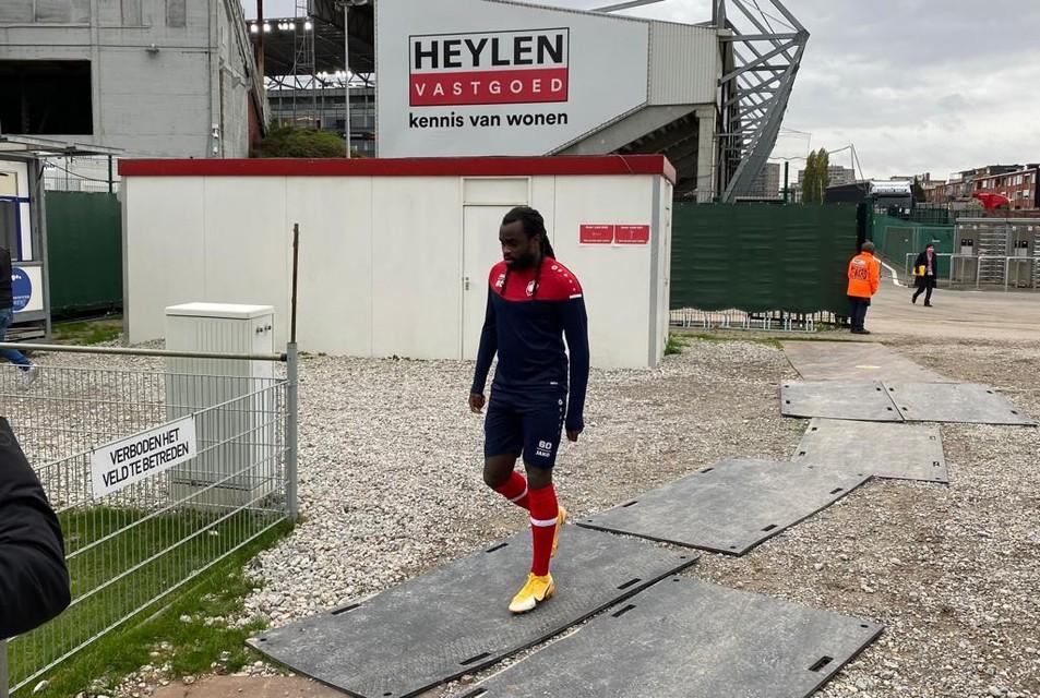 Jordan Lukaku was woensdag voor het eerst te zien op training bij Antwerp.